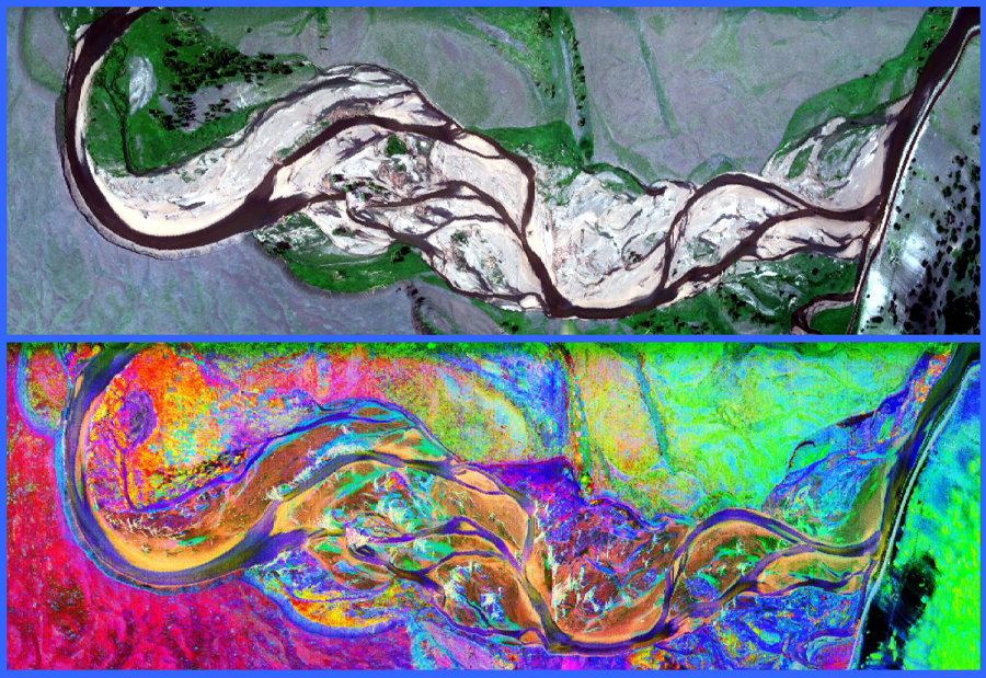 Hunting new mining deposits with hyperspectral imaging